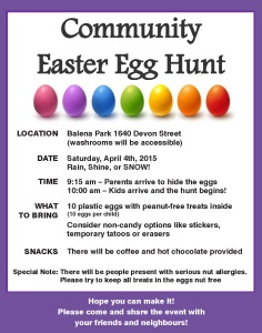 Balena Egg Hunt 2015
